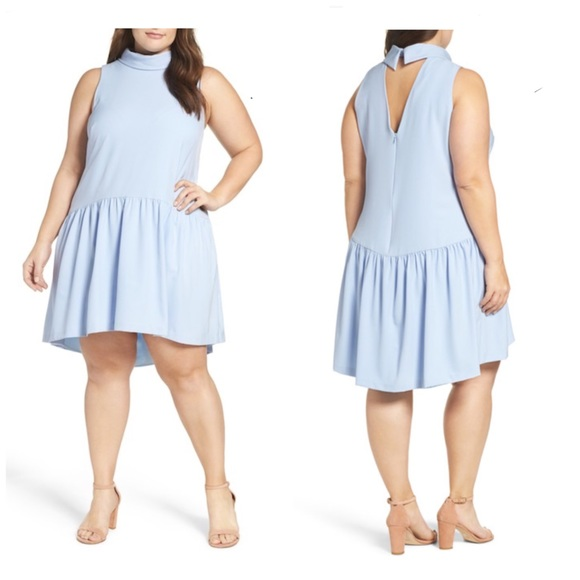 a2a0463382f7f Eliza J Dresses | Size Drop Waist Summer Dress In Baby Blue | Poshmark